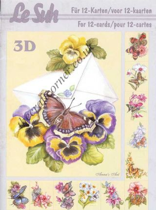 Butterflies & Flowers 3D Decoupage Book from Le Suh